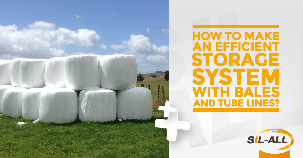 How to make an efficient storage system with bales and tube lines